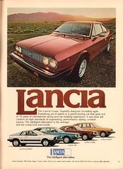 1978 Lancia Scorpion - HPE - Coupe - Sedan Advertisement Playboy December 1977 (SenseiAlan) Tags: 1978 lancia scorpion hpe coupe sedan advertisement playboy december 1977