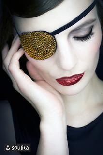 *Golden Sparkle* - Augenklappe | Eye Patch
