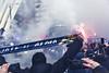 Bufanda y moviles (Dawlad Ast) Tags: real oviedo sporting gijon estadio nuevo carlos tartiere españa segunda division asturias futbol soccer partido derbi spain 2018 febrero scarf bufanda aficionados aficion supporters calle street bus autobus
