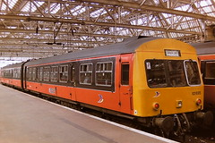 BRITISH RAIL STRATHCLYDE TRANSPORT ORANGE 101695, 51226 + 51499 (bobbyblack51) Tags: british railways strathclyde transport class 101 metrocammell leyland diesel multiple unit 101695 51226 51499 glasgow central station 1997