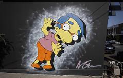 Sprung (J-C-M) Tags: simpsons character milhouse street wall art streetart graffiti melbourne victoria australia