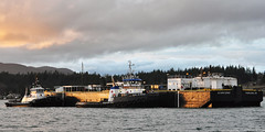 2018-02-17 Tractor Tugs Millennium Dawn, Earl W Redd & Barge Olympic Spirit (2048x1024) (-jon) Tags: anacortes fidalgoisland sanjuanislands skagitcounty skagit washingtonstate washington salishsea pnw pacificnorthwest pacifcocean pacifc ocean curtiswharf guemeschannel towboat tug tugboat ship boat vessel tractortug millenniumdawn starlightpnw earlwredd olympictugbarge barge olympicspirit harleymarineservices a266122photographyproduction