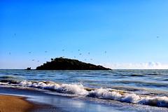 Bozyazı Nagidos Adası (Akcan PhotoGraphy) Tags: deniz ada birds sea sky dalga wave canoneos760d