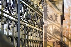 Metalwork (O.I.S.) Tags: metal metall zaun fence friedhof graveyard herford owl gemany deutschland nrw canon m3 50mm 18 stm