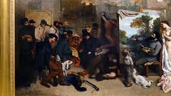 Courbet, The Studio, left side