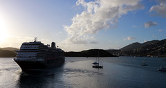 Ship Leaving Charlotte Amalie, St. Thomas (Gail Frederick) Tags: caribbean stthomas clouds harbour water