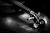 Violin scroll (G. Postlethwaite esq.) Tags: bw blackandwhite inlay monochrome motherofpearl musicalinstrument neck pegs photoborder scroll strings violin wifey