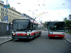 Brno trolleybus No. 3021 (johnzebedee) Tags: transport tram publictransport vehicle skoda brno czechrepublic johnzebedee skoda14tr