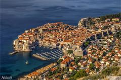 Dubrovnik famous view, Croatia (AdelheidS Photography) Tags: adelheidsphotography adelheidsmitt adelheidspictures croatia town viewpoint view dubrovnik dalmatia historic unescoworldheritage unesco balkan adriatic coast mediterranean kroatië walledcity citywalls harbour boats