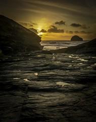 Trebarwith Strand, Cornwall @ Sunset (David Lea Kenney) Tags: sunset coast coastal sun beach beaches cornwall a6000 trebarwith explore travel seascape landscape sunrise sea sky ocean water rock dusk