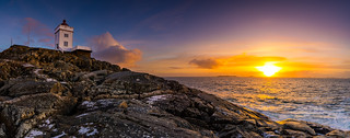 Ryvarden lighthouse panorama