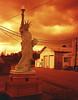 Small Town Liberty (lancekingphoto) Tags: statueofliberty replica americanlegion wartburg tenn thesouth chinonbellami 35mm fujisuperiaxtra400 redscale bifscale18