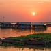 Sunset over Tonle Sap Lake