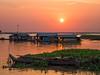 Sunset over Tonle Sap Lake (Maren 86) Tags: cambodia southeast asia travel lumixg7 sunset boats water microfourthirds