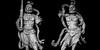 agyō & ungyō. mount misen. miyajima, japan 9971 (s.alt) Tags: niō 仁王 kongōrikishi 金剛力士 wrathful muscular guardians guardiansofbuddha buddhisttemple statue statues buddhism againstevil misshakukongō 密迹金剛 agyō 阿形 openmouthed vajramallet vajrapāṇi ahsound naraenkongō 那羅延金剛 ungyō 吽形 um closedmouthed hūṃsound birthanddeath theabsolute everything blackwhite blackandwhite monochrome bw schwarzweiss sw bwphotography bnwphotography blacknwhite black noir noire minimal minimalism mountmisen mtmisen japan miyajima 宮島 厳島 itsukushima shrineisland island hiroshimabay hiroshimaprefecture structure texture figure