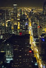 Looking Down the Magnificent Mile (matthewkaz) Tags: michiganave michiganavenue street cards lights night nightlights buildings skyscrapers urban downtown chicago city streets 360chicago johnhancock johnhancockcenter illinois 2017 christmaslights