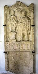 150624121 (Xeraphin) Tags: lapidary budapest hungary óbuda pannonia aquincum museum portrait stele aurelius bitus 64107 latin inscription sagum cornu sword shield sacrifice servant pedestal