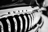 The Past Century (belleshaw) Tags: blackandwhite murrietarodrun carshow classiccar buick chrome bumper grille letters reflections detail abstract bokeh