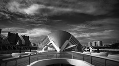 Beetle (elgunto) Tags: valencia museum science street architecture monument building symmetry urbanlandscape sky clouds blackwhite highcontrast light sonya7 nikon2035 nikkor manuallense