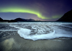 Aurora Borealis (tothfrantisek) Tags: auroraborealis northernlights nightscape sea sky water landscape seascape norway mountain