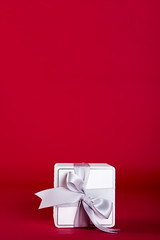 Gift box with silver ribbon bow (lyule4ik) Tags: gift box white valentine ribbon bow decoration christmas object birthday holiday square celebration decorative package surprise silver present isolated xmas anniversary paper greeting shiny background grey wrap satin happy party romantic mother celebrate day eve wedding year stilllife empty red floral event new
