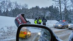 Road accidents (Staropramen1969) Tags: roadaccident road snow skid dubna russia car verkehrsunfall strase schnee schleudern russland auto accidentedecarretera carretera nieve patín rusia coche