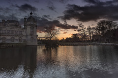 Afterglow (Sizun Eye (OFF for a while)) Tags: chantilly château afterglow glow moats tower trees reflection chateaudechantilly picardie france sizuneye nikon nikond750 d750