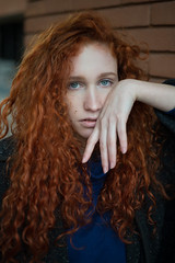 Redhead (Litvac Leonid) Tags: portrait nikon style hair redhead mood long moody dress curly ginger beautiful people attractive fashionable confident wavy