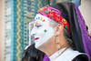 Womens March 2018 in San Diego (matt_yo) Tags: lady women woman bokeh color makeup face paint eye earing