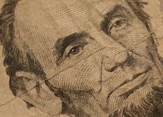 Monochrome...HMM (dougwest403) Tags: honestabe currency paper monochrome macromondays lincoln president