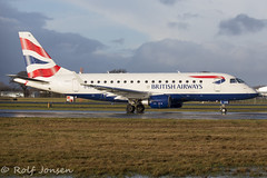 G-LCYD Embraer 170 British airways Glasgow airprot EGPF 03.01-18 (rjonsen) Tags: plane airplane aircraft aviation taxying airside airport airliner oneworld cityflyer