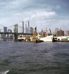 NewYork 1975 (foundin_a_attic) Tags: new york 1975 manhattanbridge worldtradecenter