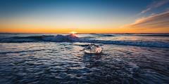 Lonely ice (modesrodriguez) Tags: 2016 iceland islandia landscape paisaje travel viaje jokulsarlon ice beach black sand sunrise