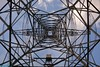 A Power Pylon. (PhotoTJH) Tags: phototjh phototjhnl power pylons high voltage pole mast hoogspanningsmast perspectief perspective powerline powerlines tennet pylon sky lines westerwatering zaandam zaanstad