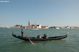 Góndola y San Giorgio - Venecia