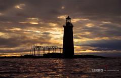 Ram Island Ledge Lighthouse: Portland, Maine (Lerro Photography) Tags: lighthouse maine silhouette dusk evening portland sunset clouds bay tower me ram island ledge ramislandledge portlandmaine