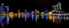 Marina Bay Pano- Singapore (Simon Taylor Local Photographic) Tags: singapore marinabay marinabaysands panorama night lights sights darkness colour vibrant scenic