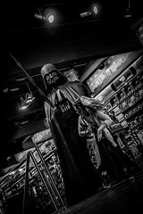 When Darth Attacks (cdawson77) Tags: scifi trafford mall bw monochrome star wars starwars darth vader light saber lego toy toys
