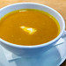 Carrot soup with curry and ginger