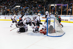 """Kansas City Mavericks vs. Indy Fuel, February 17, 2018, Silverstein Eye Centers Arena, Independence, Missouri.  Photo: © John Howe / Howe Creative Photography, all rights reserved 2018 • <a style=""""font-size:0.8em;"""" href=""""http://www.flickr.com/photos/134016632@N02/39490834735/"""" target=""""_blank"""">View on Flickr</a>"""