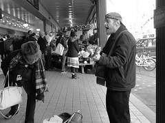 This Time With Feeling (mattwaller@ymail.com) Tags: seattle busker pikeplacemarket guitar blackandwhitephotography blackandwhite bnw blackwhite bw monochrome urban city streetphotography street streetphotographers streetphoto streetlife musician