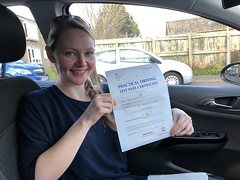 Congratulations Lucy passing your driving test with only two faults!  www.leosdrivingschool.com