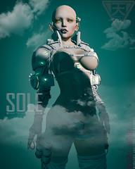 SOLE 2018 Cyberpunk LINE POP 01 (shoukokanto) Tags: secondlife second life scifi cyberpunk sf steampunk cyber armor glow neon headset gear tech high technology hightech girl cybergirl cyberpunkgirl cyberpunkwoman 3dmodeling modeling