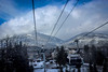 Whistler Weather (Alison Claire~) Tags: canada ca bc british columbia north america travel travelling traveling outdoor outdoors canon canoneos canoneos600d eos eos600d 600d rebel rebelt3i alison claire whistler sky blue cloud cloudscape ski tree pine nature wire mountain lift vancouver