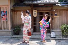Selfie or not selfie... Gion Kyoto (geolis06) Tags: geolis06 asia asie japan japon 日本 2017 kyoto gion kimono cloth suit vêtement tradionnel portrait street rue japon072017 olympusm918mmf4056 patrimoinemondial unesco unescoworldheritage unescosite lady beauté lovely