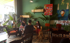 Just dropped by to say hello (Roving I) Tags: dogs pets strays tshirt cafes hello visiting danang vietnam