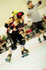 114 (Bawdy Czech) Tags: lcrd lava city roller dolls cinder kittens cherry bomb brawlers skate rollerskate bout bend oregon or february 2018 juniorderby juniors rollerderby lavacityrollerdolls