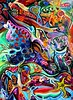 Peacock Star (MattCrux) Tags: psychedelic lsdtrip acid abstract trippy colorful rainbow lsd strange weird drug drugs weed high trip love acrylic painting acrylicpainting traditional canvas paint painted artist drawing illustration art arts expressive different beautiful artsy creativity creative