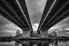 Double bridge (Wim Scholte) Tags: blackandwhite nikkor1424mmf28 netherlands nikond750 fryslân bw wimscholte