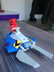 Lobster Skimmer B (taxonlazar) Tags: space classic classicspace neoclassicspace spaceship spaceman cc spacemanclassic spacemanlego vehicule skimmer speeder aeroglisseur homard lobster routine kessel